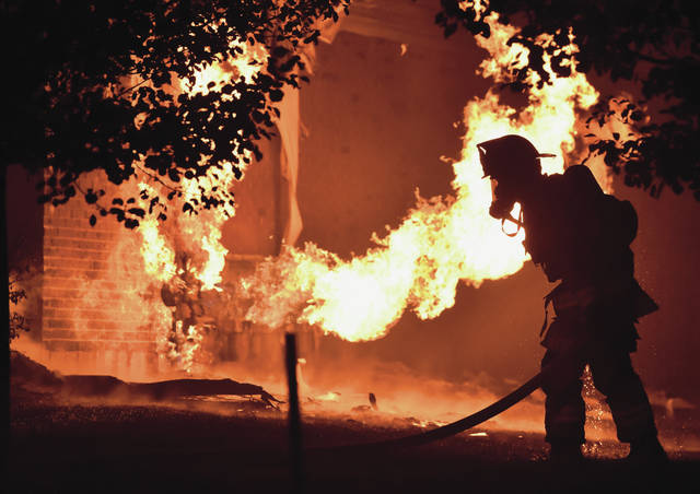 A natural gas pipe turned into a blowtorch.