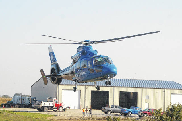 Piqua resident Brody T. Fox, 29, was transported by CareFlight following a two-vehicle crash Friday morning, Sept. 25, at the intersection of Kuther Road and Schenk Road near Sidney.
