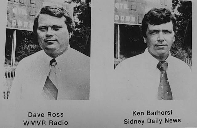 Dave Ross and former Sidney Daily News sports editor Ken Barhorst were featured in an advertisement in a 1985 Sidney High School program.