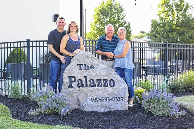 Bob and Jenni Doseck, left to right, have taken over as the sole owners of The Palazzo after the retirement of Carl and Karla Doseck. The family has owned the reception venue and banquet hall in Botkins for the past 16 years.
