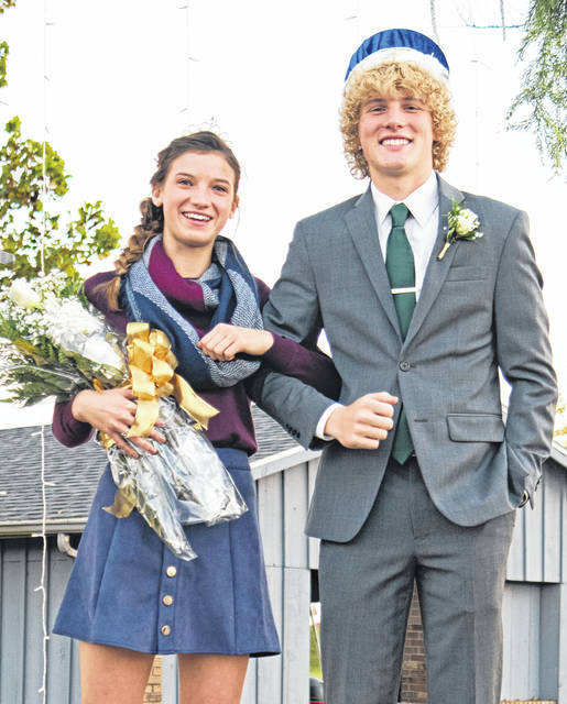 Russia High School crowned its 2020 homecoming queen and king Thursday night. The queen is Becca Seger, daughter of Randy and Shelly Seger. The king is Jonathan Bell, son of Beth Bell and Russell Bell.