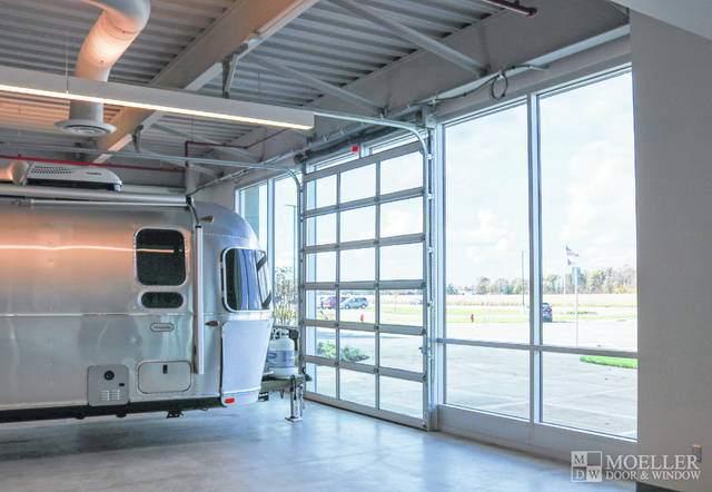 Airstream installed Haas Door products at its facility in Jackson Center.