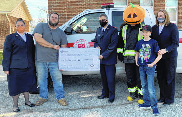 The Salvation Army's Emergency Disaster Services received a check for $610 from Chainer's Field of Scream.