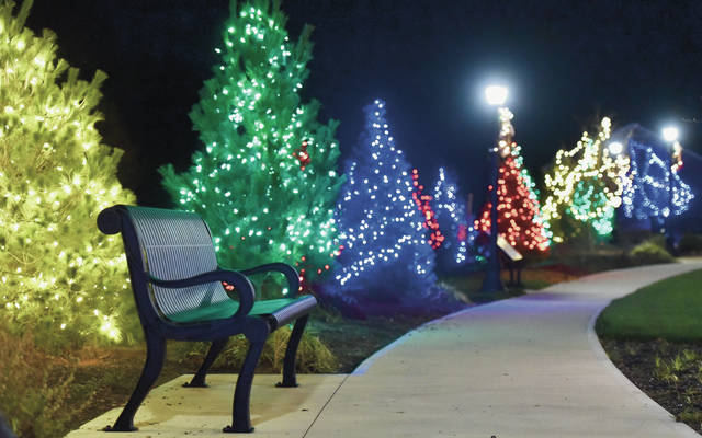 Russia Veterans Park is awash in color from Christmas Lights on Saturday, Nov. 28.