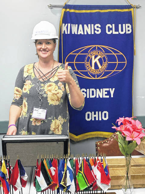 Rikki Unterbrink, outgoing Sidney Kiwanis president, shared her thoughts as her year as president and presented several awards to club members.