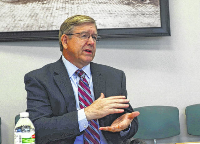 Ohio House Speaker Bob Cupp explains some of the difficulties in repealing and replacing the controversial House Bill 6 during an interview with The Lima News staff.