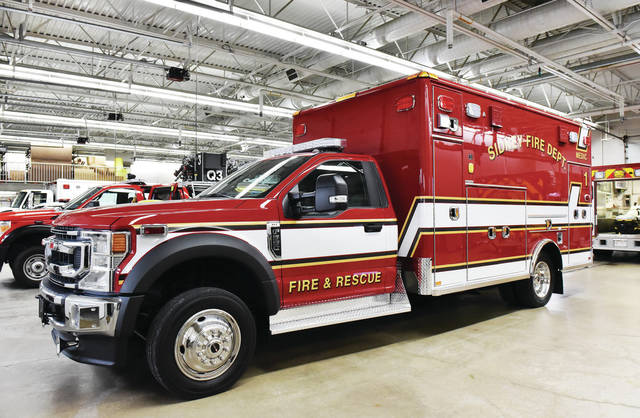 The new Sidney Fire Department ambulance.
