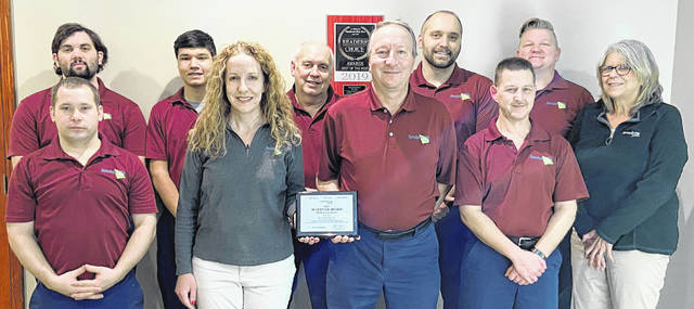 ServiceMaster by Case, which is based out of Wapakoneta, earned a ServiceMaster Restore Achiever Award at the annual awards ceremony for ServiceMaster Restore franchises.