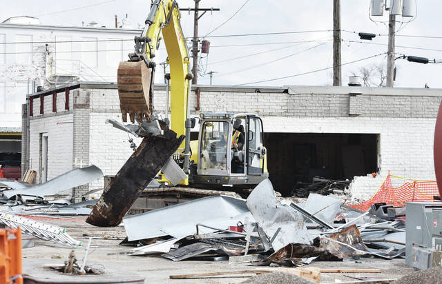 Old Clark station torn down on Friday, Jan. 15.
