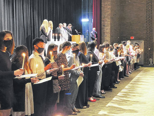 The Sidney High School chapter of the National Honor Society welcomed 40 new members into the organization Jan. 21.