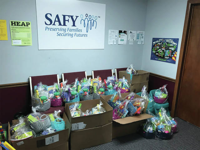 Last year, April Hoying created 52 Easter baskets to give to foster youth in the area with donations from area businesses and community members. She currently has a goal of 60 baskets and has 41 completed, but is at a standstill in donations.