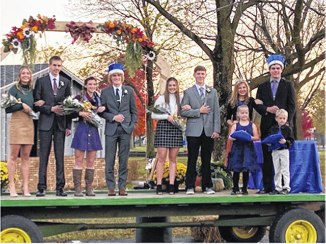The Russia homecoming king and queen were Johnathan Bell and Becca Seger, shown here with the rest of their court.
