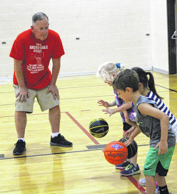 Tom Clak, shown here leading youth basketball clinic, will be the testimonial speaker at the Sidney-Shelby CountyYMCA's 2021 Community Partners Campaign Kick-Off on March 4.