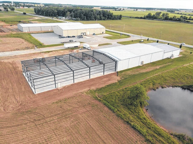 An aerial view of Buckeye Electrical Products, located in Botkins.