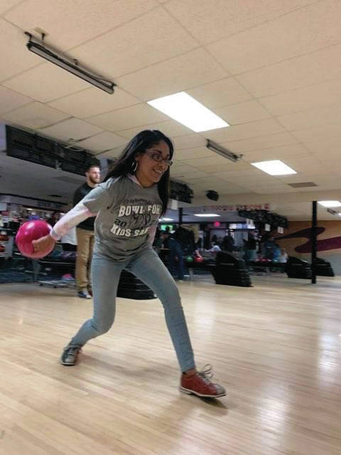 Allynah Franklin, of Sidney, participated in Bowl for Kids Sake on Saturday, March 6 with her team Media Wolf.