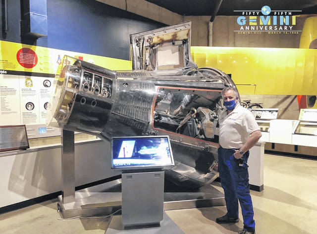 Greg Brown will discuss the 55th anniversary of the Gemini VIII space mission on March 16 during a program hosted by the Neil Armstrong Air and Space Museum in Wapakoneta.The program will be broadcast on the museum's Facebook page at 7 p.m.