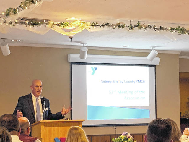 David O'Leary speaks at the Y's 53rd Annual Meeting of the Association.