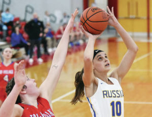 Girls basketball: Russia gives Tri-Village challenge but falls in districts