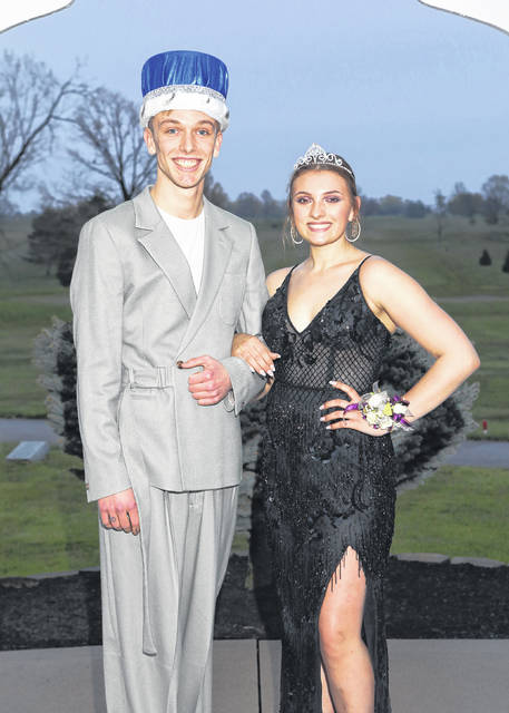 Samuel Walls, 18, son of Shane and Jenifer Walls, ,of Sidney, was crowned king during Fairlawn Local School's prom Saturday night. Catherine Cardo, 18, daughter of Frank and Jenny Cardo, of Sidney, was crowned queen.