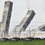 Grain elevator brought down