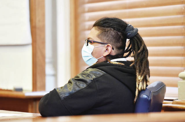 Oziel A. Godinez-Galvan sits in Shelby County Common Pleas Court on Tuesday, April 27. The Sidney man was found not guilty of gross sexual imposition.