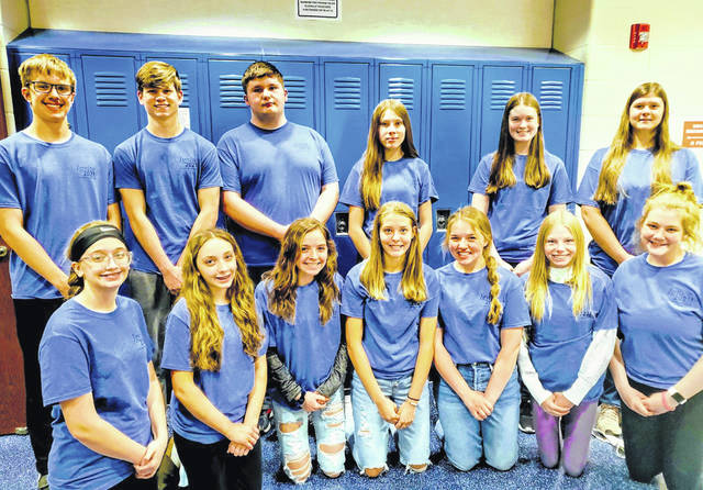 Fairlawn Student Leadership Ambassadors are back row, left to right, Nolan Cramer, Drew Westerbeck, Mitchell Mathis, Willow Clincher, Elise Bell, Belle Brautigam; front row, Ryleigh Werling, Liliana Phillips, Jocelyn McDonald, Claire Henman, Chloe Weigandt, Myla Cox and Darcy Maxson. Not pictured is Satchel McMahon.