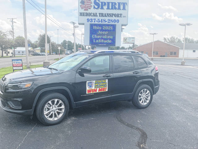 Spirit Medical Transport, LLC, is giving prospective employees a chance to win a 2021 Jeep Cherokee Latitude four-wheel drive.