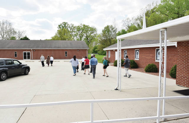 The old Full Gospel Community Church's old Fellowship Hall building, on the left, will hold the men's dorm, the Alpha Community Center, and the Holy Angels Soup Kitchen. The Church on the right will hold families, single women, and offices for Bridges Community Action Partnership.