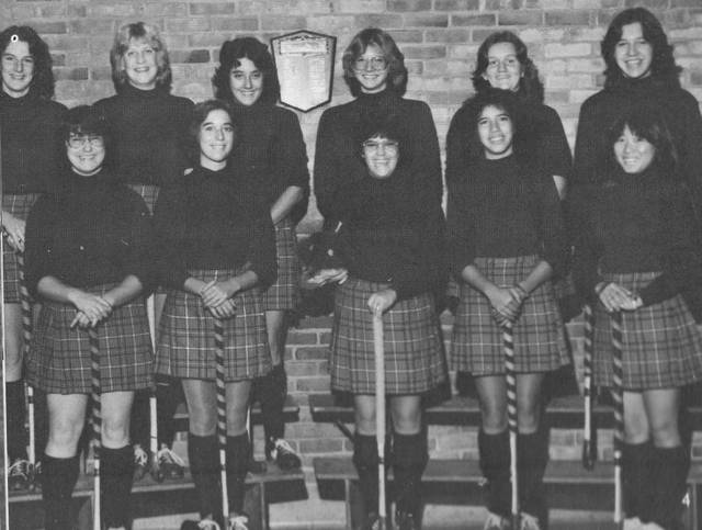 Sidney High School fielded its final field hockey squad in 1979. The school's yearbook listed no game results and only eight names with a photo of 11: Jamie Arnold, Sarah Watkins, Shelly Kaufman, Anne Stammen, Erin Barker, Lori Hilgefort, Anna Bandstra and Chris Keister.