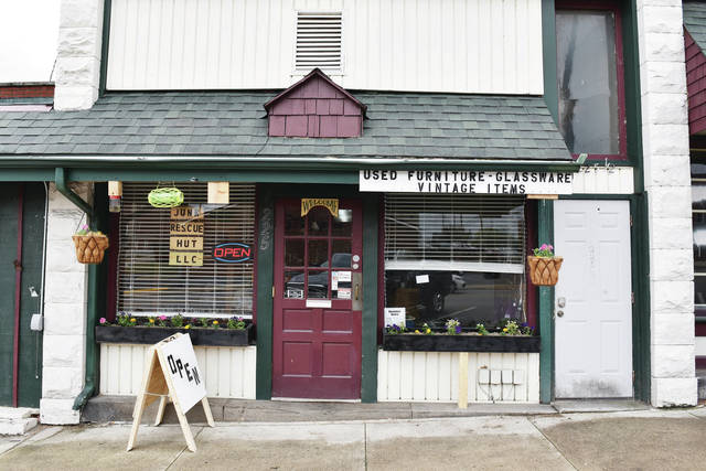 The outside of the Junk Rescue Hut on Thursday, June 3. The store is located on 225 E. Court St., Sidney.