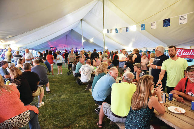 A packed entertainment tent at the New Knoxville Independence Day Celebration on Saturday, June 26.