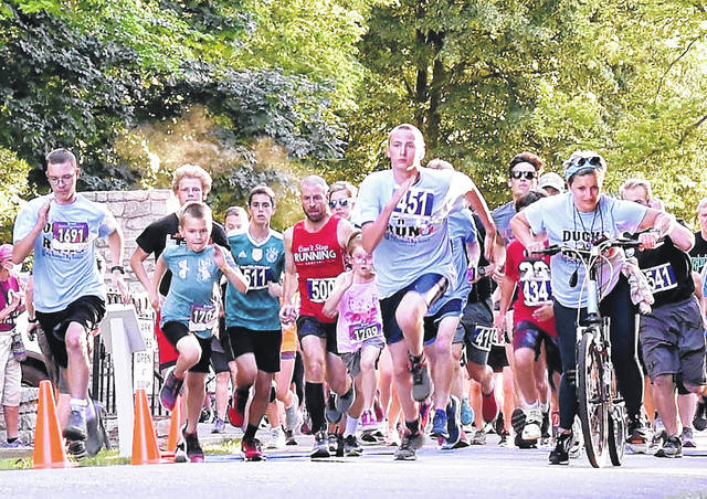 A total of 199 runners/walkers participated in the Big Brothers/Big Sisters Duck Derby 5K Thursday night. The event was held at Tawawa Park after the rubber ducks were dropped into the creek to see who run the prizes.