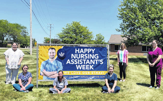 Versailles Rehabilitation and Healthcare Center is celebrating the 44th annual National Nursing Assistants Week, June 17-24.
