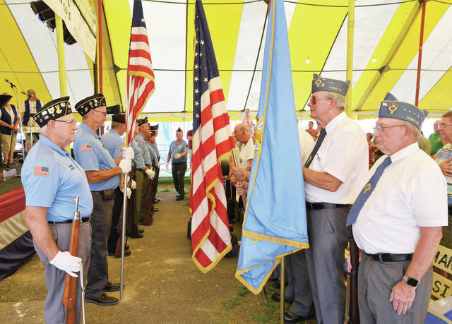 Various veterans posts provided the color guard for Veterans Day festivities at the 2021 Shelby County Fair Monday, July 26.