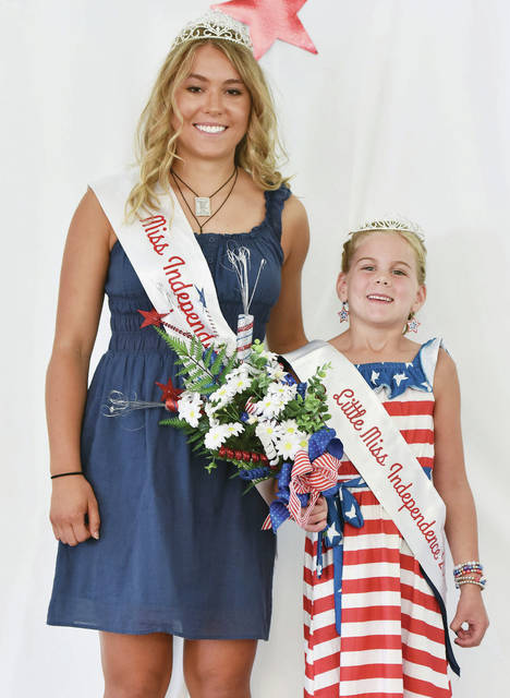 2021 Miss Independence Ava Grudich, left, 18, daughter of Chris and Jenny Grudich was crowned on Friday, July 2, and 2021 Little Miss Independence Kinley Pleiman, right, 6, of Fort Laramie, daughter of Jordan and Mallory Pleiman, was crowned on Saturday, July 3.