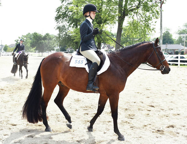 Isabella McVety, 16, of Anna, daughter of Chris and Randi McVety, competed in English Equitation on the Flat at the Shelby County Fair on Thursday, July 29.