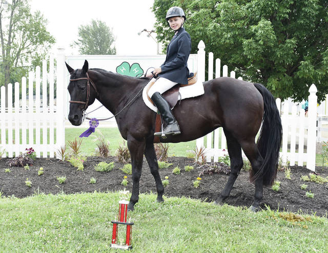 Horse and Rider member Sophia Brewer, 14, of New Bremen, daughter of Ryan and Nykole Brewer, won champion English showmanship at the Shelby County Fair.