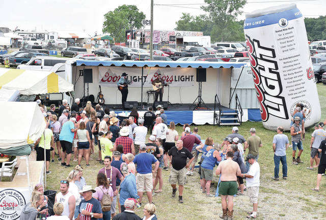 Cole Ritter performs at the Coors Light Homegrown Honky Tonk at Country Concert 2021 on Saturday, July 10.