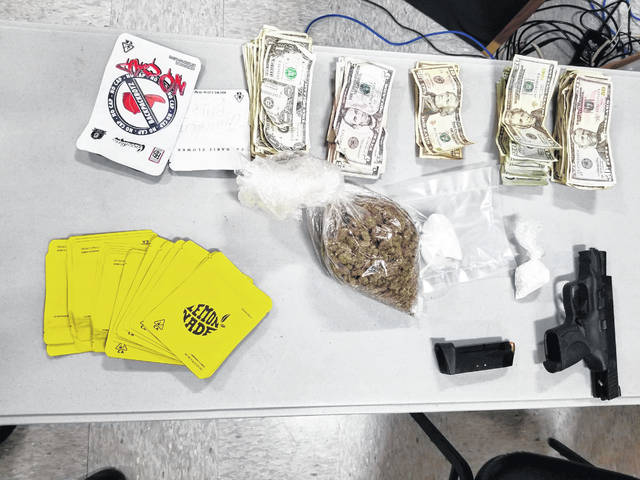 These are the items found during a traffic stop Thursday morning in Anna.