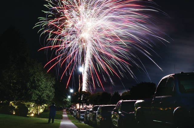 The grand finale goes off at the end of the Fort Loramie Liberty Days fireworks display on Saturday, July 3.