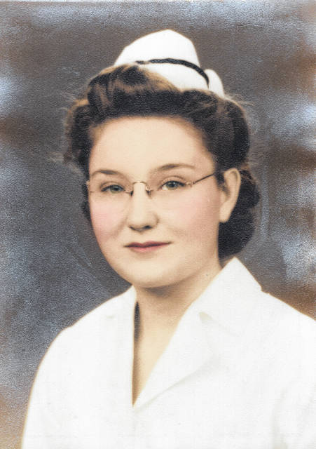 Kate Clark's nursing picture at age 21. She celebrates her 100th birthday on Saturday, Sept. 4. Her family welcomes short visits during an open house starting Friday and going throughout the weekend.