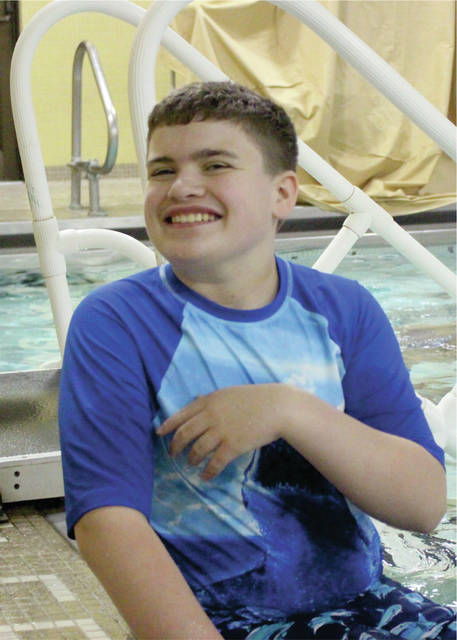 Ethan Siegel, son of Brenda and Vern Siegel, Jr. of Sidney, had fun in the Y pool at Camp You this summer.