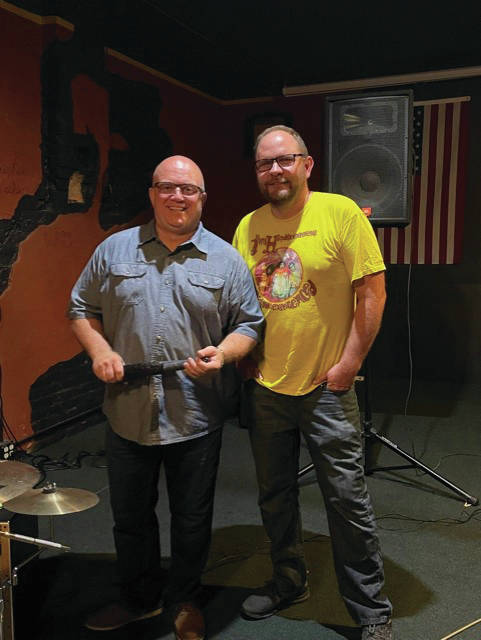 Pictured are David Warner, left, and Aaron Frohna, right. Warner regularly plays with Frohna in the group Frohna & Friends.
