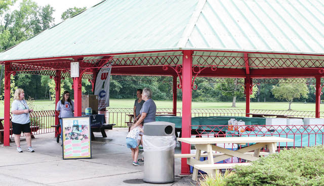 """Wilson Health's mom's group """"The Baby Bunch"""" gathered at Geib Pavilion at Tawawa Park on Friday, Aug. 13 to celebrate National Breastfeeding Month. The event, called """"picnic in the Park: In it Together"""" was co-sponsored by the Shelby County Health Department. It was The Baby Bunch's first meeting since the start of the Covid-19 pandemic."""