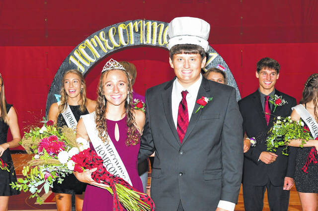 Queen Anna Detrick and King Clayton Schafer were crowned as Fort Loramie homecoming royalty Saturday night.