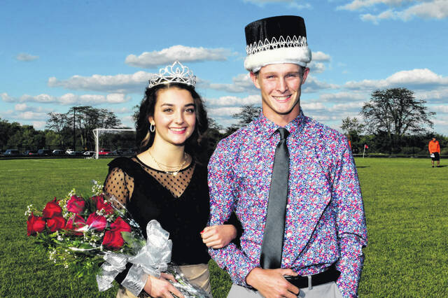 Gabrielle Woolley, daughter of Greg and Jennifer Woolley,and Carson Regula, son of Austin and Amy Regula, were crowned the 2021 Jackson Center High School homecoming queen and king.