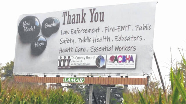 When this billboard panel is replaced next week for the 2021 Week of Appreciation campaign, the old vinyl panels will be sent to Louisiana or other areas affected by Hurricane Ida to be repurposed as emergency shelters or to cover damaged roofs.