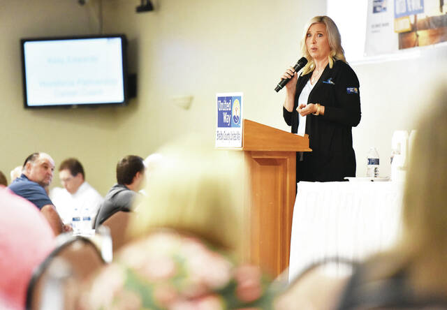 Workforce Partnership Career Coach Kelly Edwards talks about the students that have been helped in building their careers by Workforce Partnership. Edwards was one of the speakers at the 2021 United Way Kickoff dinner held at the Palazzo on Thursday, Sept. 9.