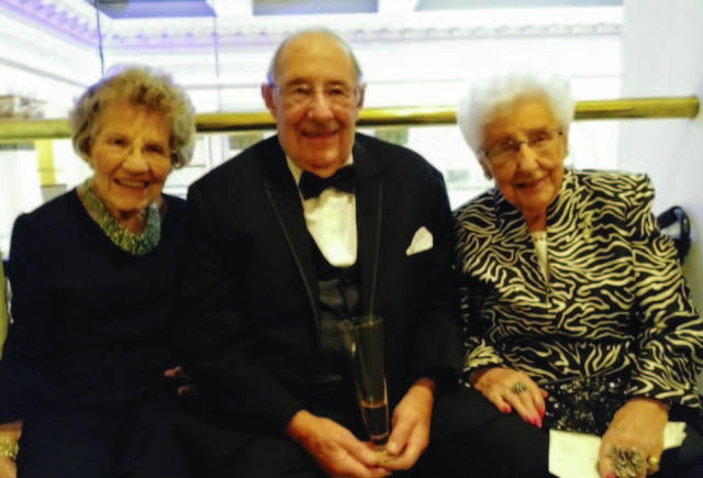 """Paul Magoto attends his grandson's wedding in 2018 with his sisters Virgina """"Ginny"""" Daniel, left, and Ruth Magoto, right. The three siblings have been close their entire lives and recently reunited when Landings of Sidney opened its doors to the public."""