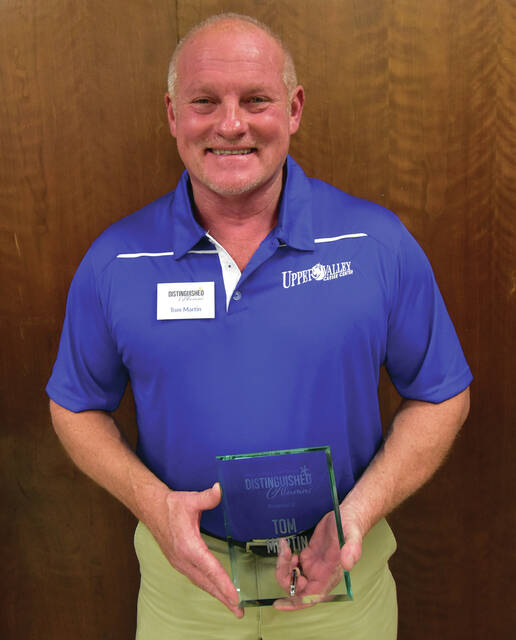 Sidney Body CARSTAR Owner Tom Martin, of Sidney, was recognized by Upper Valley Career Center as a distinguished alumni during a ceremony in Piqua on Thursday, Oct. 7.